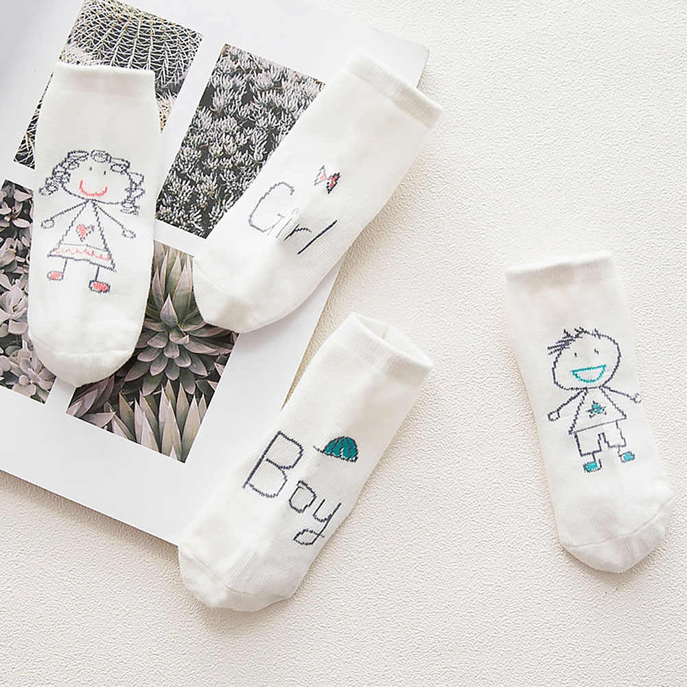 Bebé Calcetines de algodón asimetría niño primavera Otoño Invierno de dibujos animados lindo Anti-slip