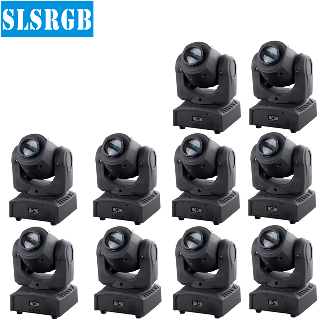 10pcslot led christmas lights wholesale spot 10w led blinking mini moving head light cheap