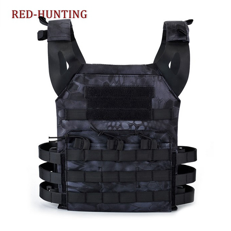 Hunting Tactical 1000D Body Armor JPC Plate Carrier Vest Typhone Black Chest Rig Airsoft Paintball Gear