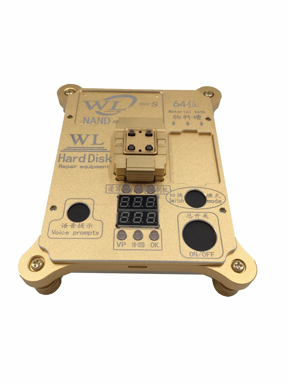 WL 64 Bit hard disk test repair instrument IC Chip Mainboard Nand Flash Programmer HDD Serial Number SN for iPhone 5S to 6 Plus
