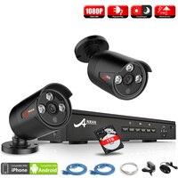 ANRAN P2P Plug Play 4CH NVR POE CCTV System 1080P HD H 264 Array IR Motion