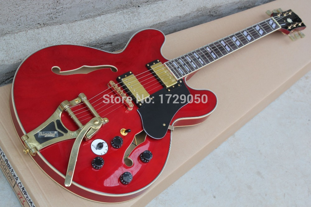 Best Price China guitar factory custom 100% Top Quality New ES-355 TDSV varitone switch - Stereo 1960 / Cherry red / Guitar 15