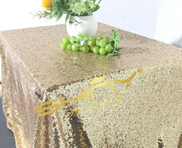 Incroyable Best Suitable 50u0027u0027*50u0027u0027 Light Gold Sequin Table Cloth, Glossy
