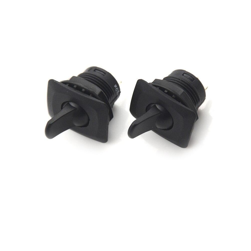 2 шт., круглые переключатели SPDT на 3 контакта, черного цвета