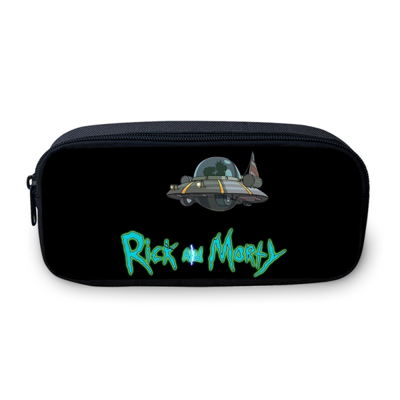Hynes Eagle Funny Pack Anime Cartoon Rick And Morty Prints Pencil Bags Cosmetic Box Boys Girls School Pen Pouch Stationery Case