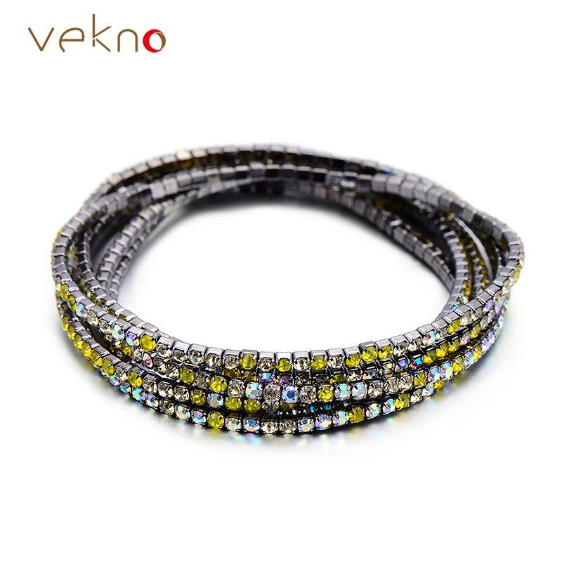 VEKNO 50 PCS Lot Luxury Rhinestone Stretch Bracelets For Women Elastic  Charm Crystal Bracelets Wedding Cocktail Bling Jewelry -in Charm Bracelets  from ... 4305020c35f4