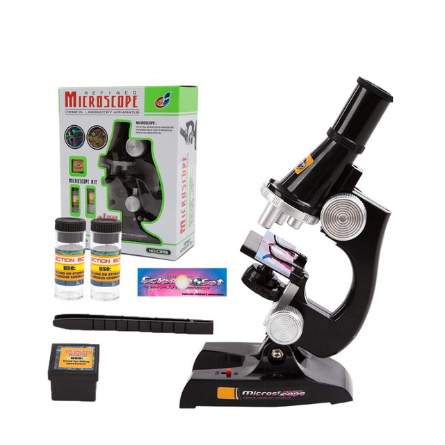 450x Scientific Instruments Microscope Toys Set For Early Education Entry Level Student Children Birthday Gifts Hot Sale