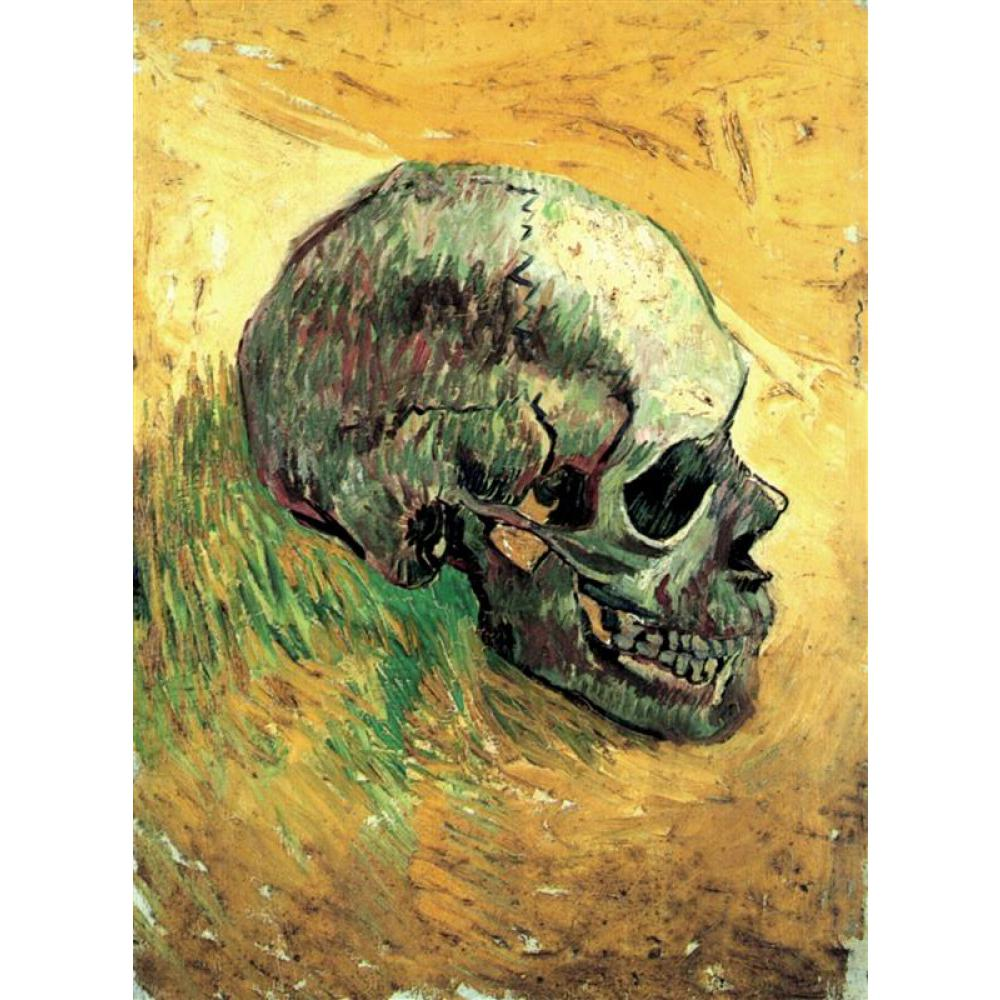 Hand Painted Oil paintings Vincent Van Gogh Canvas art Skull High quality home decorHand Painted Oil paintings Vincent Van Gogh Canvas art Skull High quality home decor