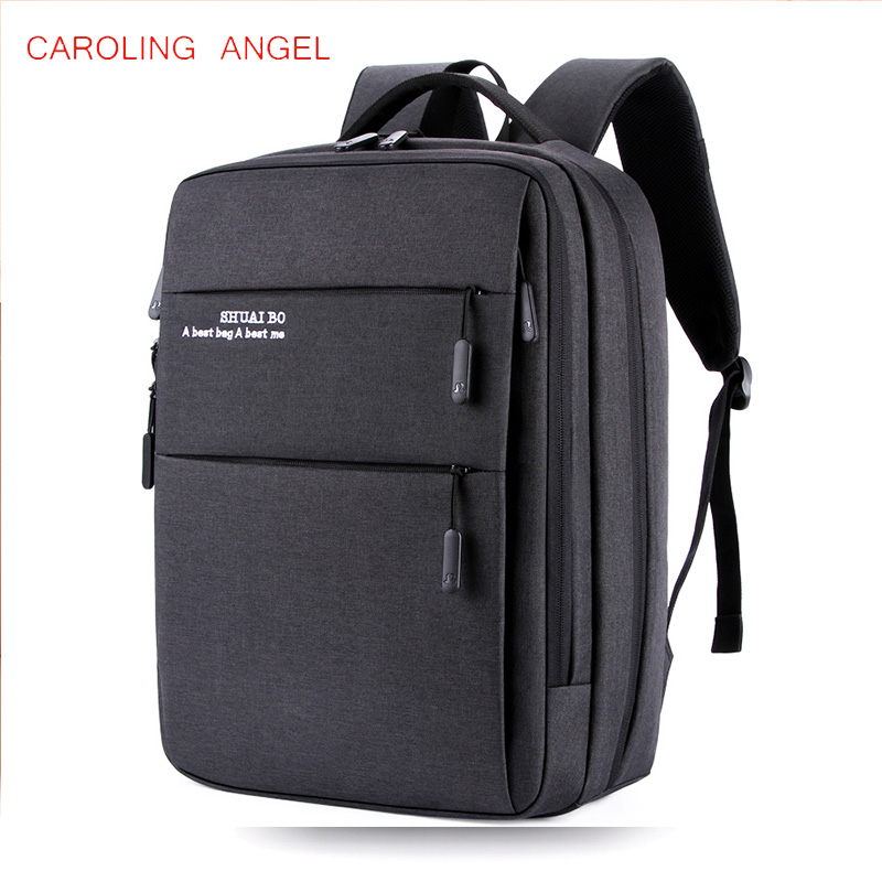 Men's 15 Inch Laptop Backpack Computer Male School Backpacks Rucksacks Leisure For Teenage Travel Women Shoulder Mochila