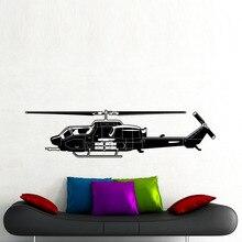 Envío Libre Helicóptero Militar Backgroud Etiqueta de La Pared Para la Sala de estar Decoración Del Arte Del Vinilo Etiqueta de La Pared Adhesivo Y-625