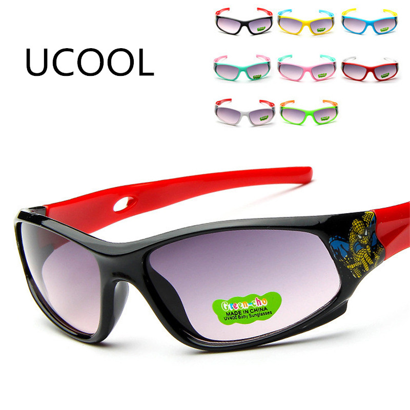 UCOOL 2018 Ny Design Style Barn Mode Solglasögon Sommar Pojkar Flickor Glasögon Windproof UV Glasses