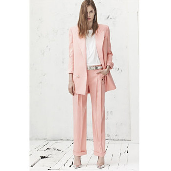 New women's single button casual suit two-piece suit (jacket + pants) women's business formal suit support customization