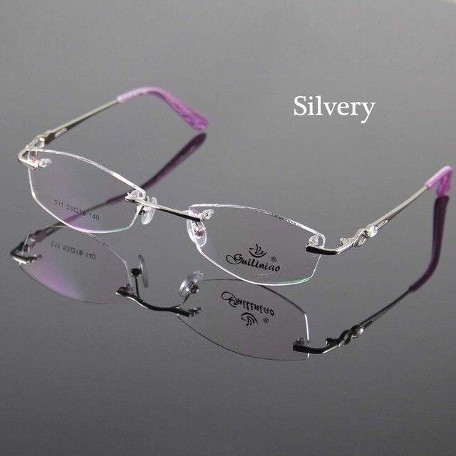 e757ebf3edab 2 Color Women Eyeglasses Frame Designer Rimless Women Glasses Spectacles  Optical Frame Prescription Eyewear Eyeglass Frames
