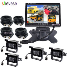Parking-Camera Split-Monitor Car-Rear-View-Kit Reversing-Backup Ir-Car LCD 18 for Bus