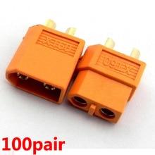 цена на 100 Pairs XT60 XT-60 Male Female Bullet Connectors Plugs For RC Lipo Battery Wholesale