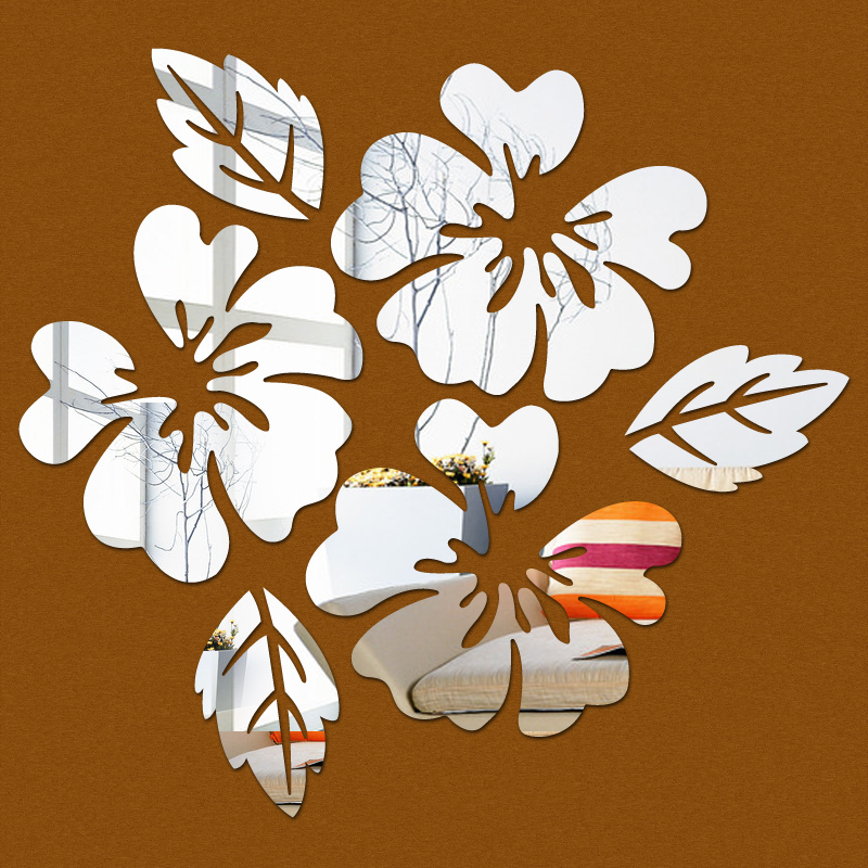 wall sticker stickers2017 acrylic modern horse butterfly mirror diy new flower promotion sale 3d home decoration