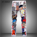 Skinny jeans hombres famosa marca de algodón pantalones vaqueros hombre ocasional hombre de diseño de moda hip hop harén pantalones pantalones de mezclilla blanco