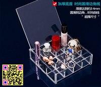 母の日ギフト24グリッド透明なクリスタル化粧オーガナイザー収納ボックスシェフbasketjewelryプラスチック収納ボックス