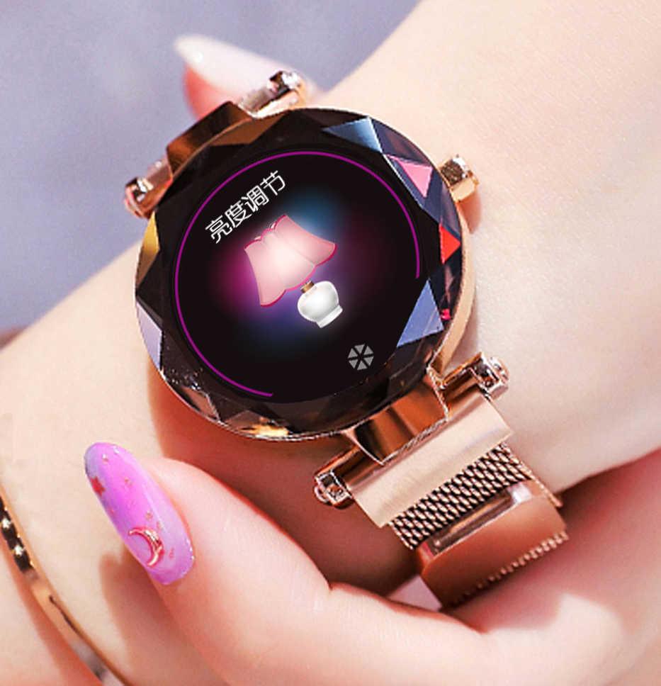HI18 inteligentny zegarek smartwatch reloj inteligente relogio android tracker monitor montre podłącz akilli saatler zegarek kobiety mężczyźni