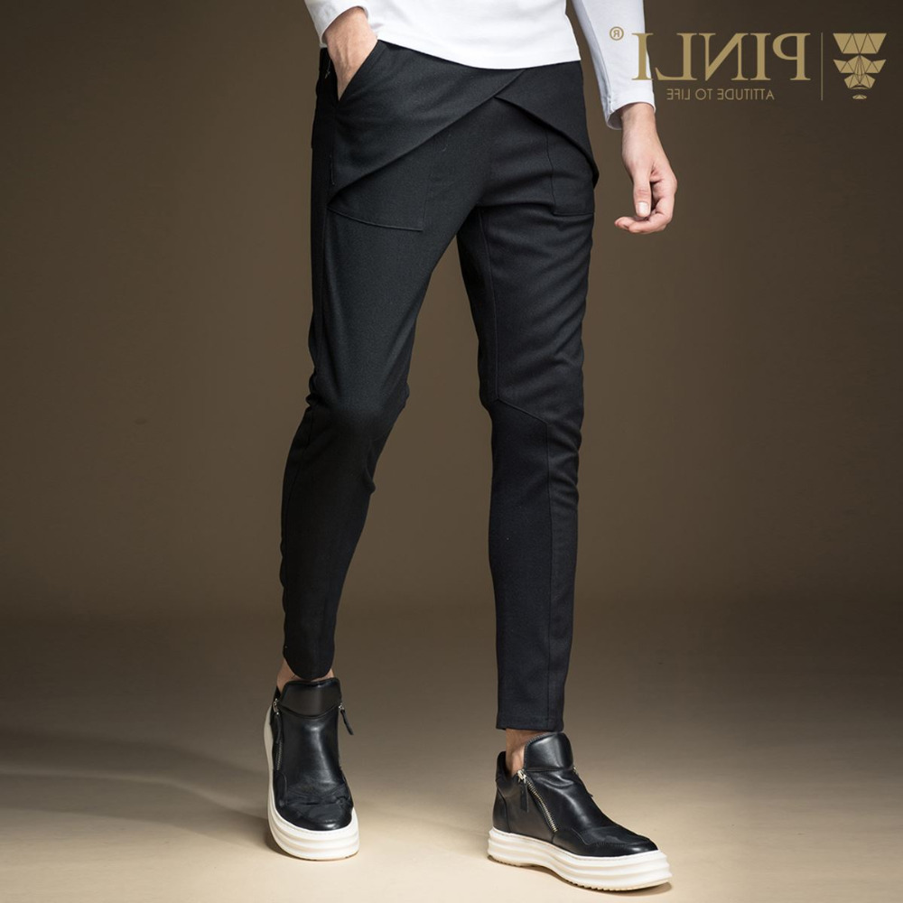 Free Shipping New Fashion Casual Male Men's Autumn Personalized Slim Casual Pencil Pants Trousers B163317047 On Sale