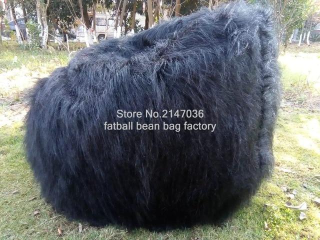 da1007da3f43 Large Faux Fur Beanbag Bean Bag Cover Shaggy Fur White Soft Luxury Lounge  Chair