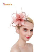 Feathers Samll Hats Women Fascinators Bridal Wedding Ladies Cocktail Party Hair Accessories acconciature sposa H173