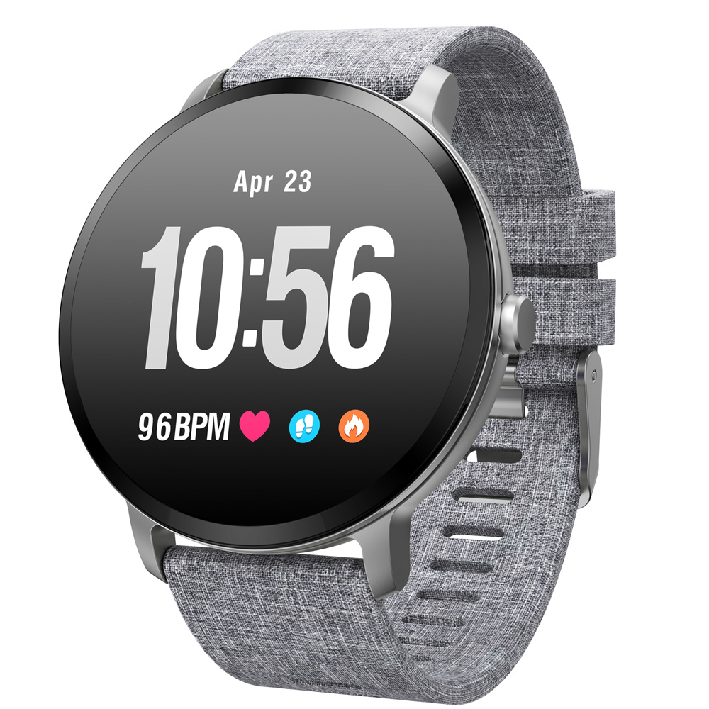 Hiwego V11 montre intelligente IP67 étanche verre trempé activité Fitness tracker moniteur de fréquence cardiaque bord hommes femmes smartwatch nouveau