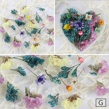 3D Цветочные наклейки для нейл-арта, сушеные цветы, консервированные ромашки, лист для украшения гель-лака для ногтей, маникюрные акриловые наконечники
