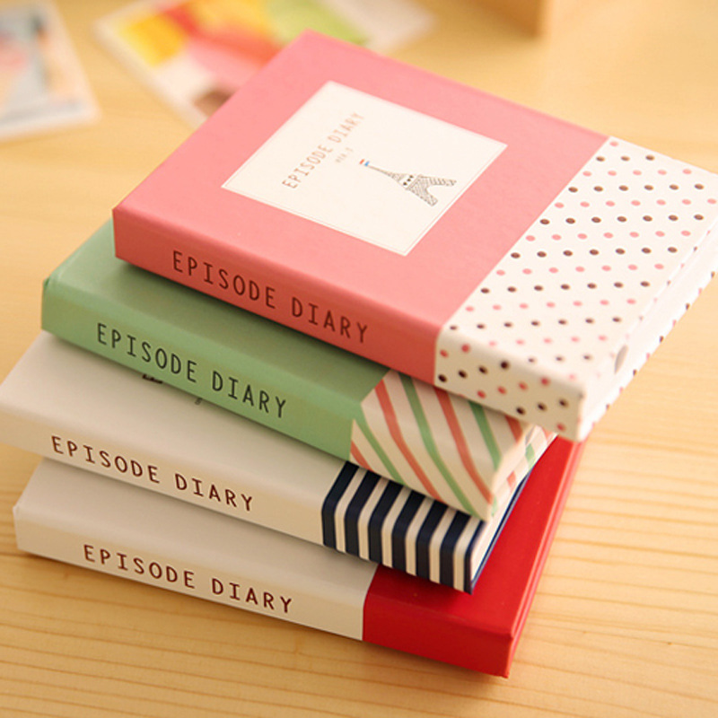 Creative Hardcover Memo Pad Notepad Sticky Notes Kawaii Stationery Diary Notebook Office School Student Supplies + Pen