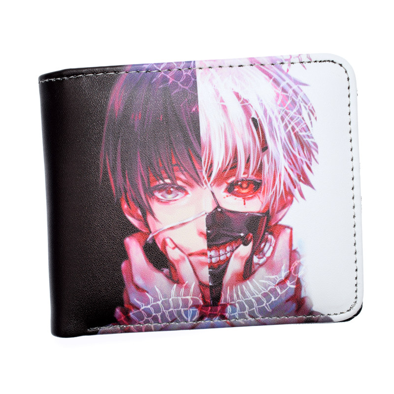 FVIP Anime Tokyo Ghoul / Death Note/ Rolling Stone Short Wallet With Coin Pocket Money Bag For Men Women