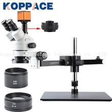 KOPPACE 16MP Full HD 1080 P 60FPS HDMI промышленности цифровой микроскоп с камерой мобильный телефон ремонт Тринокулярный стереоскопический микроскоп