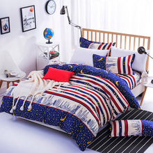 Duvet Cover no Pillowcase 1PC Lattice Gift For Home Textile Polyester Simple Geometric Pattern Cotton Bedclothes