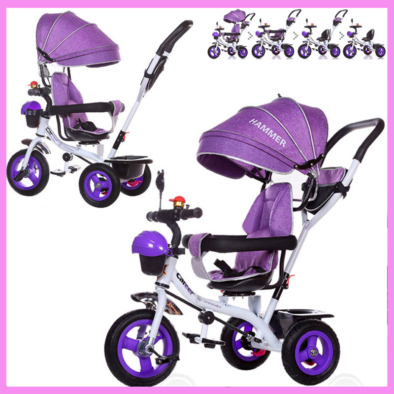 Brand Quality Portable Baby Tricycle Bike Children Tricycle Stroller Bicycle Swivel Baby Carriage Seat Detachable Umbrella Pram bronte e wuthering heights роман на английском языке