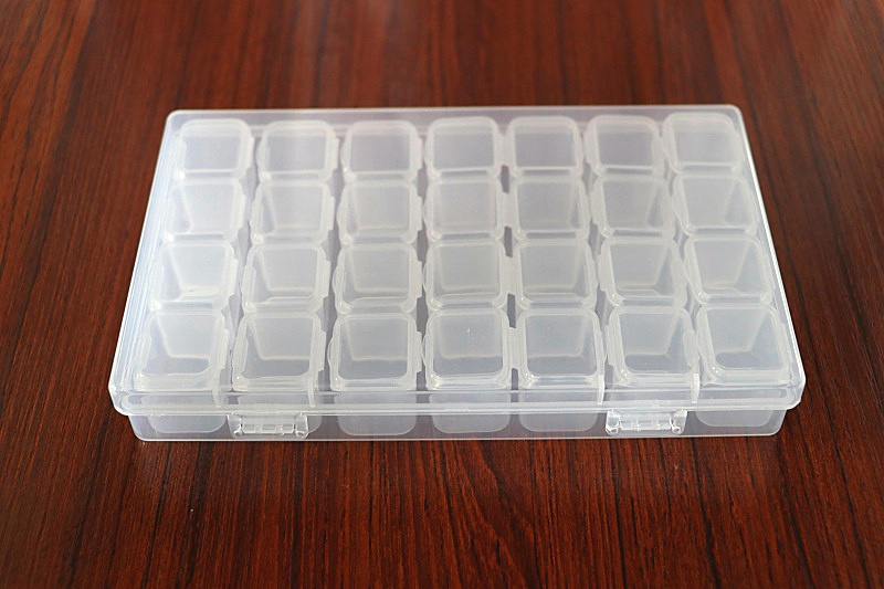 28 Grids Transparent Tablet Medicine Box Organizer Storage Box Jewelry Storage Box Removable Dividers Painting Tool Container