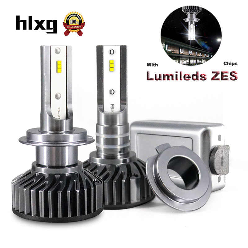 HLXG 2Pcs H1 H4 H11 H7 LED H4 bulb With Lumileds ZES Chips 12000LM For Car Headlight Auto lampada  Light 9005 HB3 LED 9006