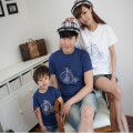 t-shirt	mother father baby	fashion	family look	cotton	family matching outfits	short sleeve	bike	0038