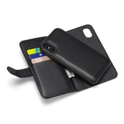 Wallet case iPhone XS zipper case, wallet, plain protective case, multi-functional case 4