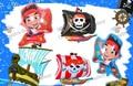 Бесплатная Доставка 4 шт./лот Джейк и Neverland Пират Фольгированные Шары BalloonGlobos Поставок День Рождения Гелием Воздушный Шар