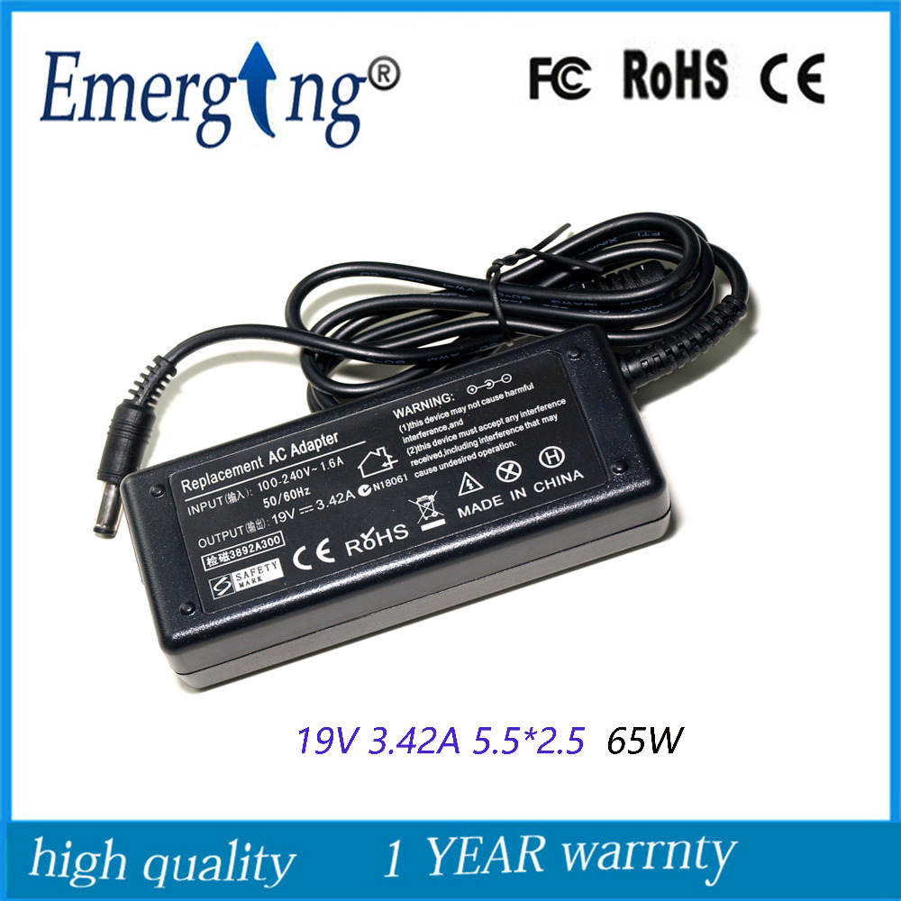19V 3.42A 5.5*2.5mm 10pcs  Charger Power Supply AC Laptop Adapter