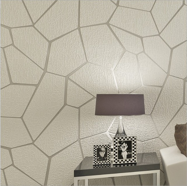 Suede 3d Modern Textured Wallpaper Rolls Background Geometric Silver