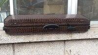 Wooden Tire Tread Crocodile PU Pleuche In Lining 4/4 Violin Accessories CASE Reversible And Portable