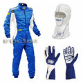 Fireproof balaclava & two layer fireproof cotton racing suit & karting gloves three item discount price for sell