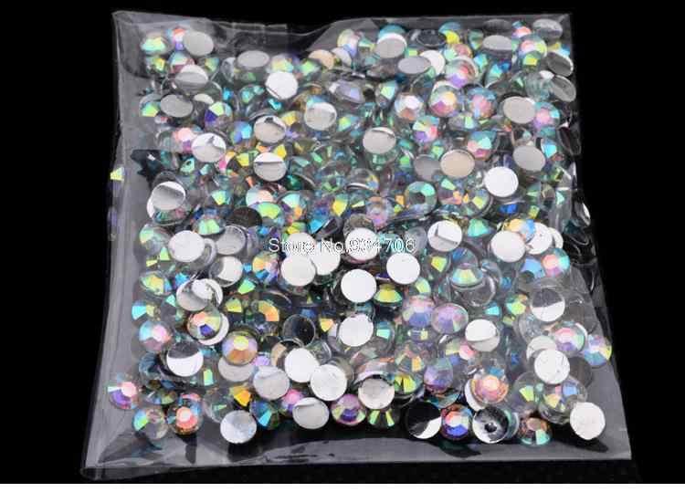 MANZILIN SP0003 1000 ชิ้น/แพ็ค 4 มม. ใหม่ Glitter เล็บอะคริลิคเล็บ AB คริสตัล Rhinestone Charm ความงาม DIY 3d ตกแต่งเล็บเครื่องมือ