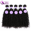 Virgin Curly Hair 5pcs/lot Brazilian Kinky Curly Weave Natural Color Kinky Curly Virgin Hair Brazilian Curly Virgin Hair