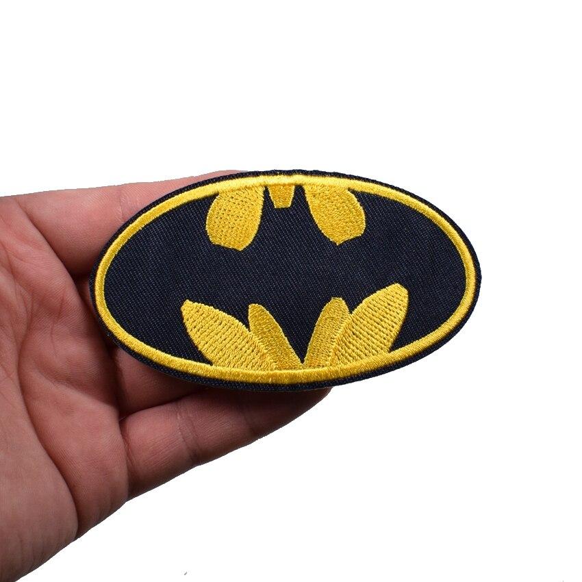 Супергерой Бэтмен фильмы комиксов мультфильм логотип вышитые Утюг/пришить патч ...