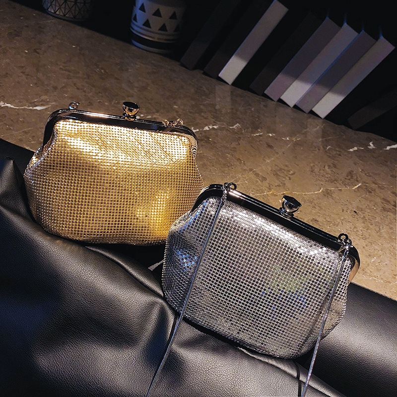 Women Glistening Evening Clutch Bags with Detachable Chain, Formal Party Clutches for Party and Dating