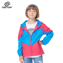TECTOP Child Waterproof Jacket Summer Boy Girl Quick-Dry UV Protection Jacket Child Trench Coat For 5-11 Age Sun Block Clothing