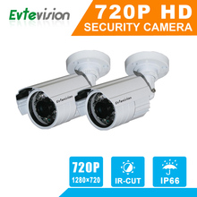 Evtevision 2PCS AHD 1.0 MP(1280×720) In/Outdoor CCTV Bullet Cameras Weather-Proof 66FT Superior Night Vision