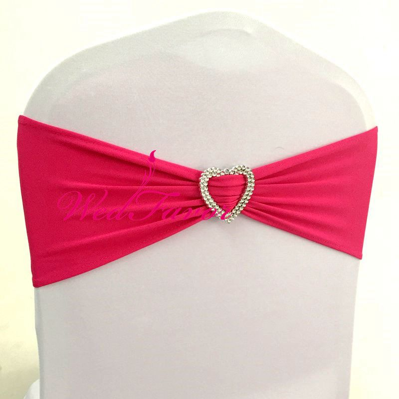 100pcs Neon Green Elastic Stretch Wedding Chair Bow Sash Lycra Spandex Chair  Bands With Heart Buckle For Banquet Hotel Supplies In Sashes From Home U0026  Garden ...