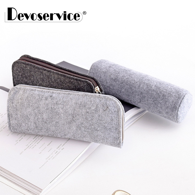 1Pcs Hot Sale Fashion Portable Felt Pencil Bag Pen Case Cosmetic Makeup Coin Pouch Zipper Bag School Stationery Office Supplies